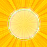 Sun Yellow Beams with Transparent Bubble