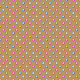Beige Seamless Polka Dot Pattern