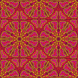 Ethnic Seamless Pattern  with Kaleidoscopic Ornament