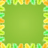 Yellow Green Shiny Flower Frame with Copy space
