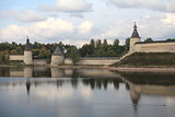 Pskov Kremlin in autumn
