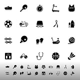 Fitness sport icons on white background
