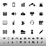 Sound icons on white background