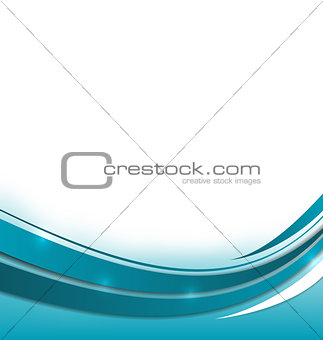Abstract blue brochure with space for your text