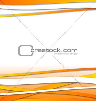 Abstract orange design template with lines