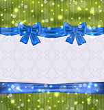 Christmas background with ribbon bows