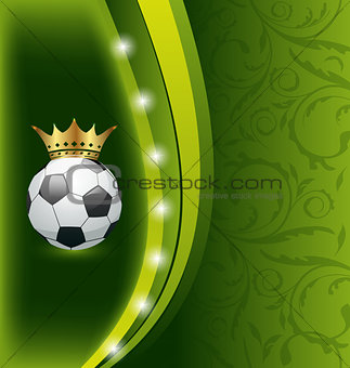 Football card with ball and crown