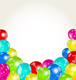 Set colorful balloons for happy birthday