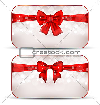 Christmas cards with gift bows