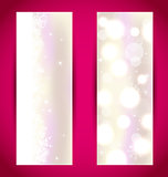 Set Christmas banners with snowflakes