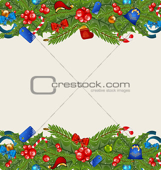 Christmas elegance background with holiday decoration