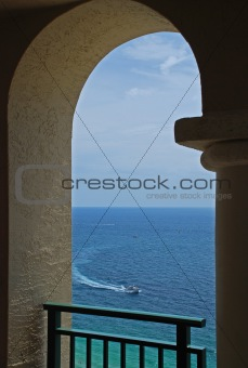 Arch, Boat and Ocean