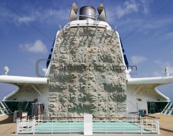 Climbing Wall On Cruiseship