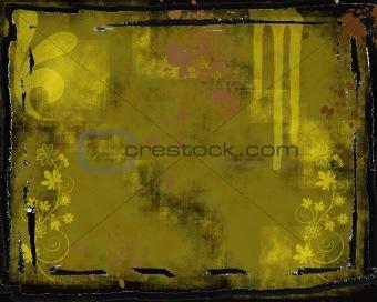 Grunge backgrund with frame