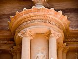 Treasury temple detail in Petra