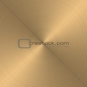 circular gold