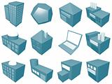 Supply Chain Management Icon Symbol Set