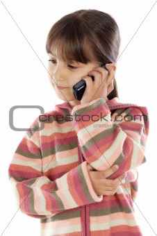 casual girl talking on the cellphone