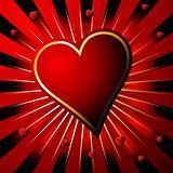 Heart over stripes