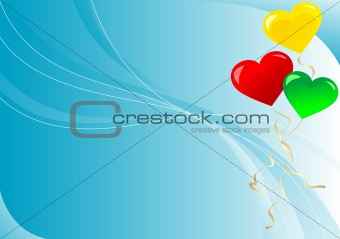 Abstract background with balloons