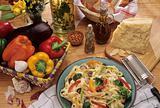 Pasta food plate