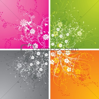Floral backgrounds, vector