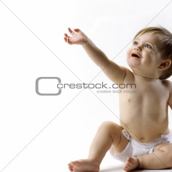 Baby reaching up