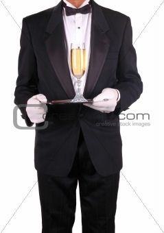 Man in Tuxedo with Champagne