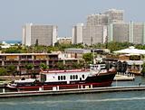 Docked ferry boat