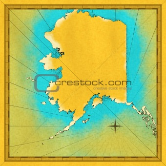 Antique map of Alaska