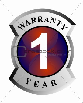 1 year warranty sign