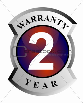 2 year warranty sign