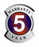 5 year warranty sign