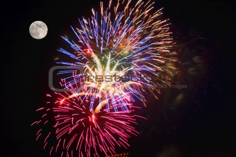Fireworks at Full Moon
