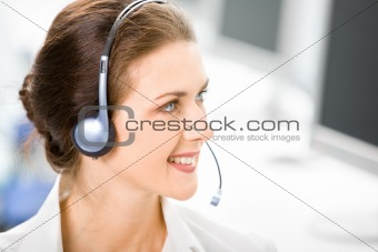 Business headset operator