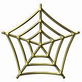 3D Golden Spider Web