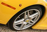 Yellow super car wheel