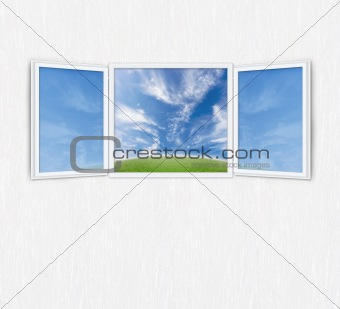Open window freedom concept