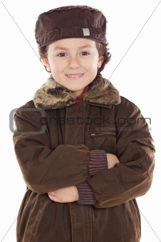 child whit hat