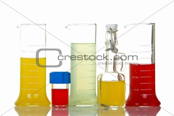 Assortment of test flasks