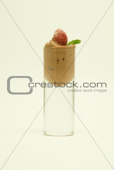 Single Glass of Chocolate Mousse