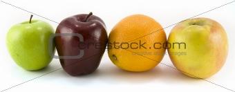 Three Apples and an Orange