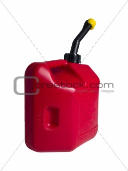 Red Gas Can Isolated