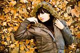 Model in leaves