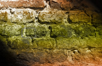 abstract deteriorating brick wall