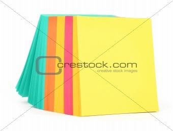 blank adhesive notes