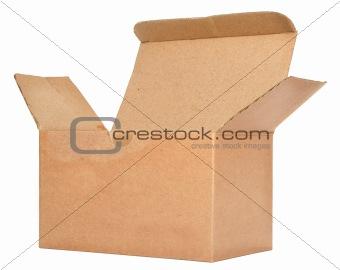 single open cardboard