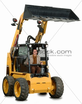 little excavator with driver