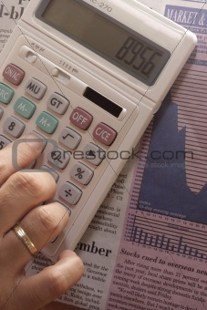 Calculator and Business Section