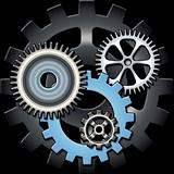 Gears in grey and blue